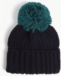 b3d76e05a26 Sandro Beryl Knitted Pom Pom Beanie in Black - Lyst