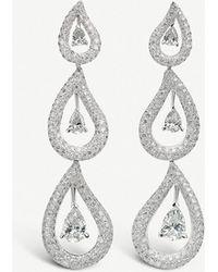 BUCHERER JEWELLERY - 18ct White-gold And Diamond Earrings - Lyst