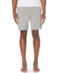 BOSS - Branded Stretch-cotton Pyjama Shorts - Lyst