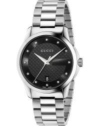 f6c29eee68b Gucci Ya138404 G-timeless Medium Rectangle Watch - For Men in ...