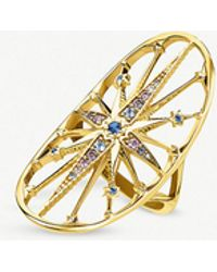 Thomas Sabo - Kingdom Of Dreams 18ct Yellow Gold Plated Silver Royalty Star Cocktail Ring - Lyst