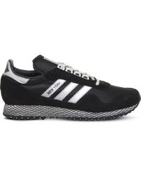 adidas - New York Mesh And Nubuck Trainers - Lyst