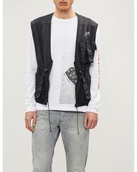 Ck Jeans - American Flag-print Cotton-jersey T-shirt - Lyst