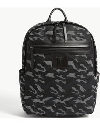 Giuseppe Zanotti - Camouflage Textured Leather Backpack - Lyst