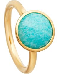 Astley Clarke - Stilla 18ct Yellow-gold Plated Amazonite Ring - Lyst