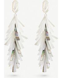 Kendra Scott - Justyne Silver-plated And Acrylic Tassel Earrings - Lyst