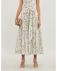 492931ae86 Emilia Wickstead - Evelyn Floral-print Stretch-cotton Wrap Skirt - Lyst