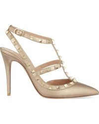 Valentino - Rockstud 100 Leather Courts - Lyst