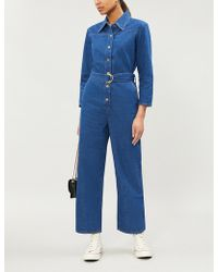 bef81c97a5e6 Lyst - M.i.h Jeans Hart Silk-crepe De Chine Jumpsuit