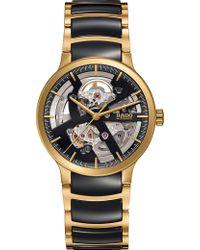 Rado - R30180162 Centrix Gold And Ceramic Open Heart Watch - Lyst