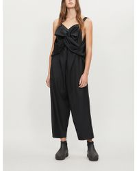 Limi Feu - Crossover-front Wool Jumpsuit - Lyst