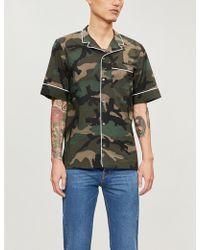 Valentino - Camouflage-print Slim-fit Cotton Shirt - Lyst
