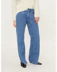 Y. Project - Twisted-leg High-rise Wide-leg Jeans - Lyst