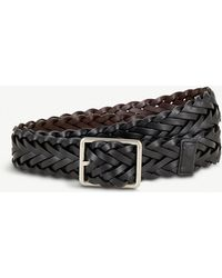 Paul Smith - Reversible Plaited Leather Belt - Lyst