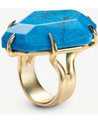 Kendra Scott - Megan Gold-tone And Aqua Howlite Ring - Lyst