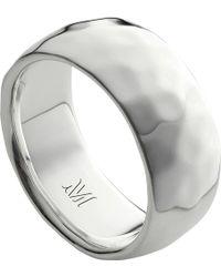 Monica Vinader - Alta Hammered Sterling Silver Ring - Lyst