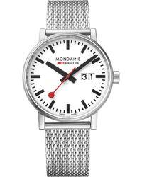 Mondaine - Mse-40210-sm Evo2 Big Stainless Steel Watch - Lyst