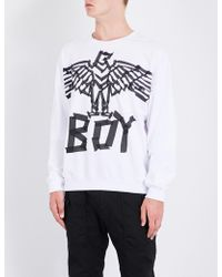 BOY London - Eagle Tape-print Cotton Sweatshirt - Lyst