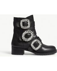ALDO - Dwoiviel Leather Ankle Boots - Lyst