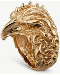 Emanuele Bicocchi - Eagle Head 24ct Yellow-gold Plated Ring - Lyst