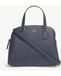 Kate Spade - Blazer Blue Striped Cameron Street Lottie Leather Satchel Bag - Lyst