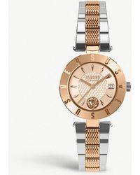 Versus - Sp77260018 Logo Gold-plated Stainless Steel Watch - Lyst