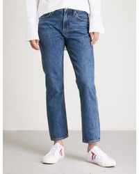 Agolde - Cigarette Straight Low-rise Jeans - Lyst