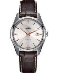 Rado - R32115115 Hyperchrome Stainless Steel And Leather Watch - Lyst