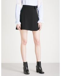 Claudie Pierlot | Bow-detailed High-rise Crepe Mini Skirt | Lyst