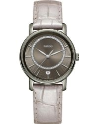 Rado - R14064715 Diamaster Ceramic And Leather Watch - Lyst