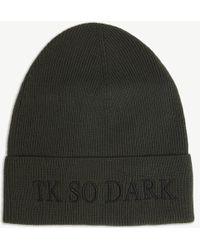 The Kooples - Tk So Dark Wool Beanie - Lyst