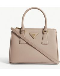 ab6d049e97 Prada Gold Galleria Leather Tote Bag in Metallic - Lyst