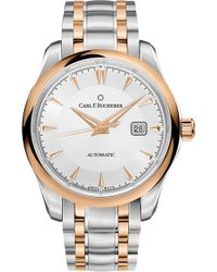 Carl F. Bucherer - Stainless Steel And 18k Rose Gold Watch - Lyst