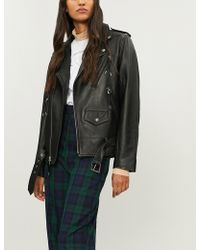 Toga - Lace-up Leather Jacket - Lyst