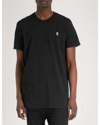 Boris Bidjan Saberi 11 - Logo-embroidered Cotton-jersey T-shirt - Lyst