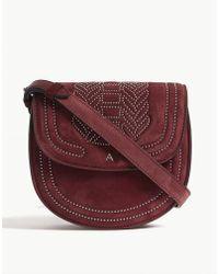 Altuzarra - Dahlia Purple Ghianda Suede Saddle Bag - Lyst