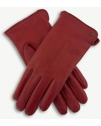 Dents - Faux-shearling Leather Gloves - Lyst