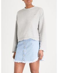 SJYP - Destroyed Cotton-jersey Sweatshirt - Lyst