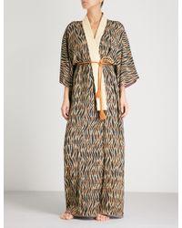 Kisshōten - Tiger Printed Silk Kimono Robe - Lyst