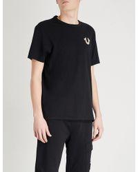 True Religion - Rubberised-logo Cotton-jersey T-shirt - Lyst