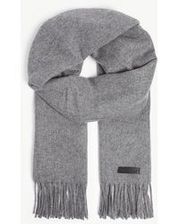 The Kooples - Monochrome Wool And Cashmere-blend Scarf - Lyst