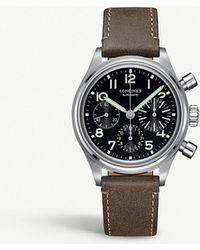 Longines - L28164532 Avigation Bigeye Stainless Steel Watch - Lyst
