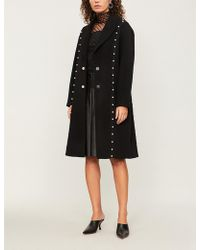 Huishan Zhang - Faux Pearl-embellished Wool-blend Coat - Lyst