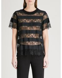 Claudie Pierlot - Tonight Panelled Lace Top - Lyst