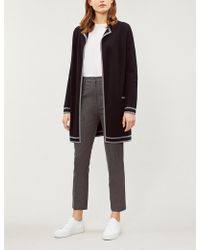 The White Company - Wool-cotton Tipped Coatigan - Lyst