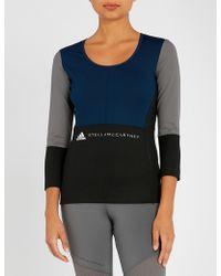 adidas By Stella McCartney - Yoga Comfort Stretch-jersey Top - Lyst