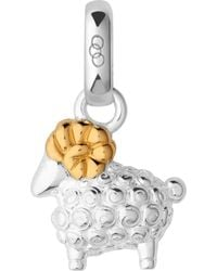 Links of London - Chinese Zodiac Ram Sterling Silver And 18ct Yellow Gold Charm - Lyst