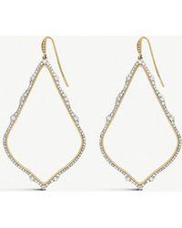 Kendra Scott - Sophee 14ct Yellow-gold And White Diamond Drop Earrings - Lyst