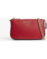 MICHAEL Michael Kors - Textured Leather Chain Wallet - Lyst