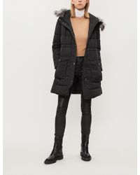 Emporio Armani - Hooded Padded Coat - Lyst